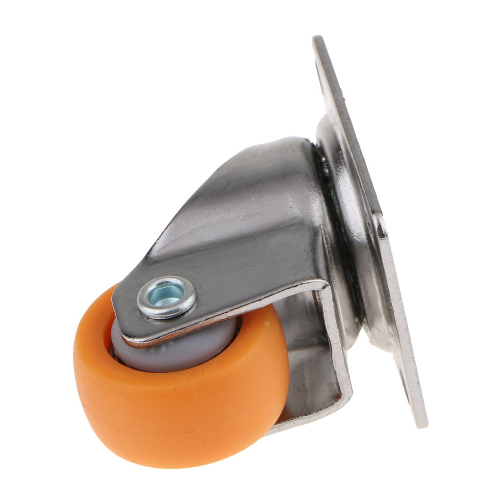 Orange F Fityle 10pcs Heavy-Duty Rollen 25mm mit Stahlkugellagerwirbel 360 Grad Drehbar Lenkrollen