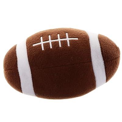 B Blesiya Juguete Deportivo de Fútbol/Voléibol/Rugby/Baloncesto de Peluche Control de Sonido Niños - Rugby: Hogar
