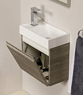 Gäste WC Badmöbel Set, WT Waschbecken mit Unterschrank in ...