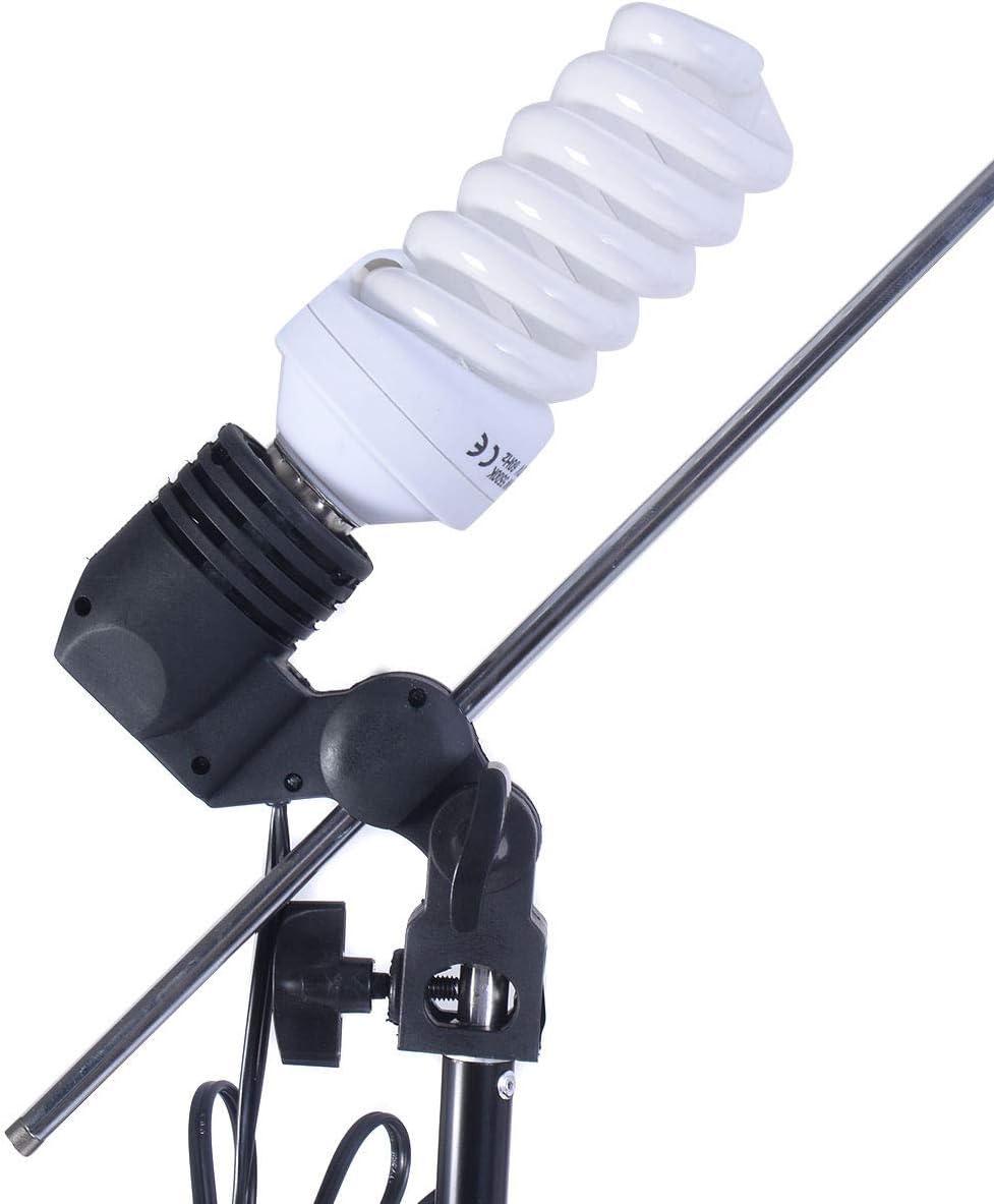Studio 45W Bulb Lighting Umbrella Photography Stand Kit