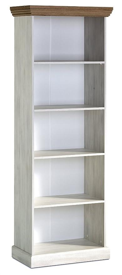 Devonshire Tall Bookcase White Ash Oak Amazon Co Uk Kitchen Home