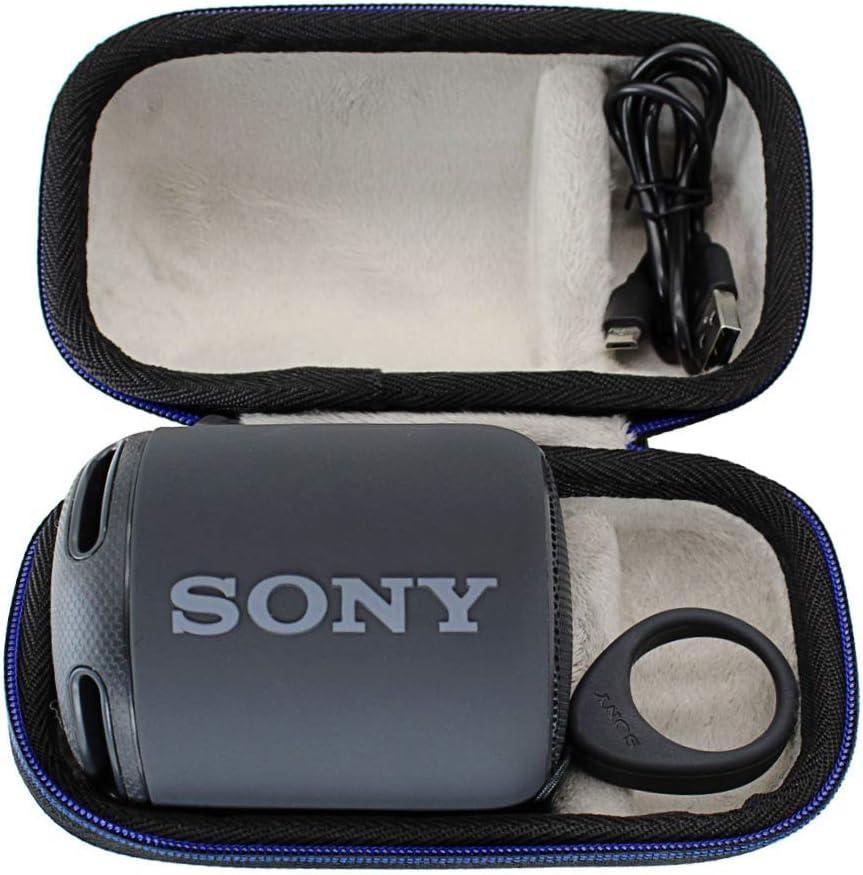 para Sony SRS-XB10/SRS-XB12 Altavoz inalámbrico Bluetooth portátil Viajar Difícil Caso Bag-Negro por GUBEE