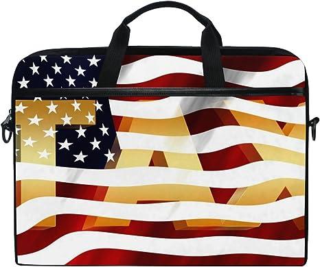 Satchel Crossbody Handbag Patriotic Symbols United States America Multi-Functional Woman Satchel Handbag Fit for 15 Inch Computer Notebook MacBook