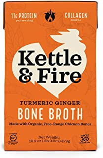 product image for Kettle & Fire, Broth Bone Chicken Turmeric Ginger, 16.9 Ounce