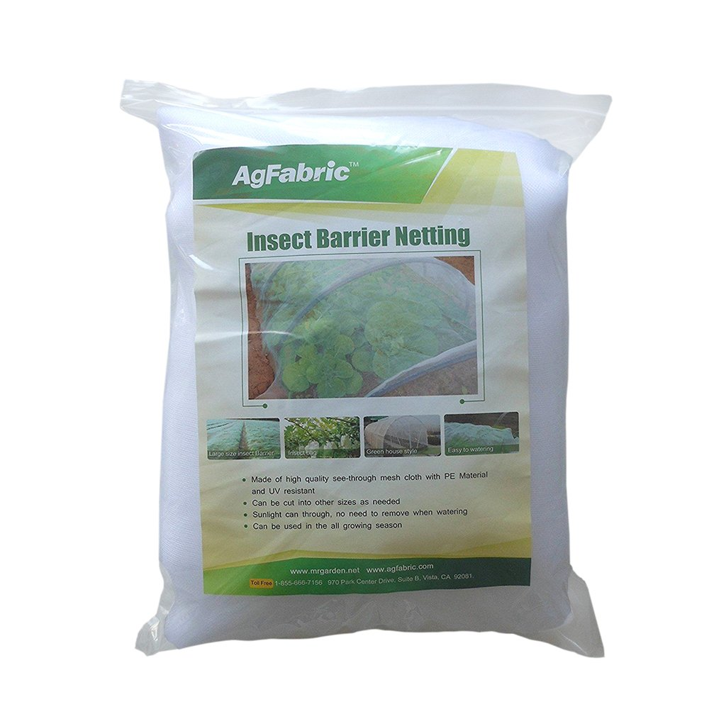 Agfabric Standard Insect Screen & Garden Netting against Bugs, Birds & Squirrels - 10'x30' of Mesh Netting, White by Agfabric (Image #3)