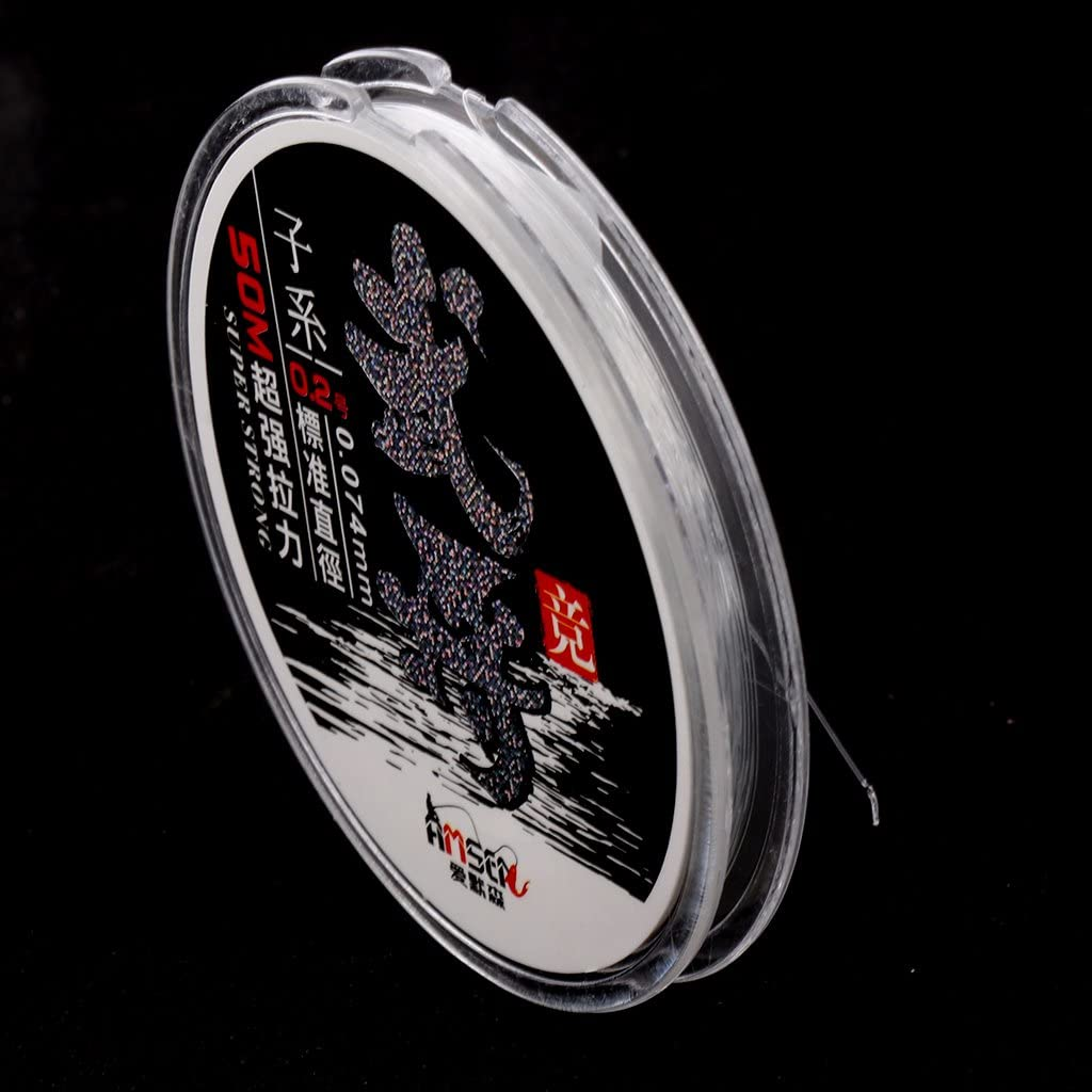 sharprepublic 50M Nylon Angelschnur 0,2 3,5# Super Starke Geflochtene Schnur Transparent