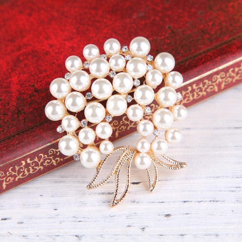 Gquan Mens Brooch Brooch Fashion Pearl Butterfly Knot Diamond Brooch Popular Beautiful Women pin