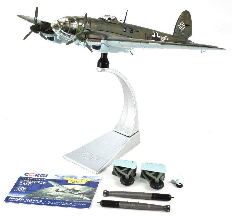 Corgi AA33715 Heinkel He.III H-6, 1H+BB, 1./KG26, Bardufoss Airfield, Norway