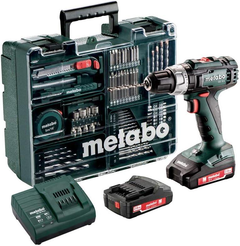 Set de taladradora Metabo BS 18/L 18V 602317870 200W bater/ía AH