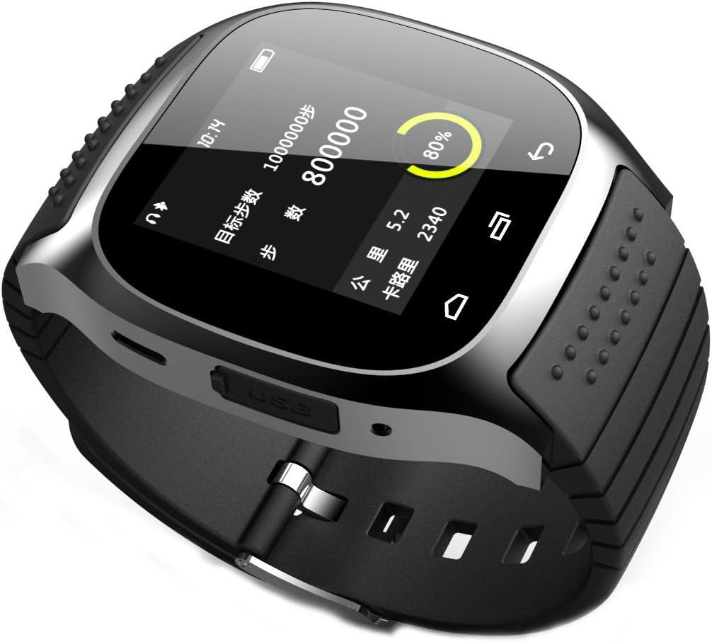 TECH Fashion R de Watch M26Bluetooth Smart LED de luz de Indicadores de Reloj con Esfera/contestar/SMS Recuerdo/Music Player/–Perdidos/Passometer/termómetro