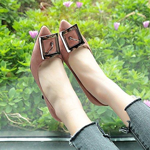 HRCxue Frauen Schuhe retro square Haken Haken Haken einzelne Schuhe Frauen Schuhe dick mit Qualität und vielseitige Schuhe 39 ff919b