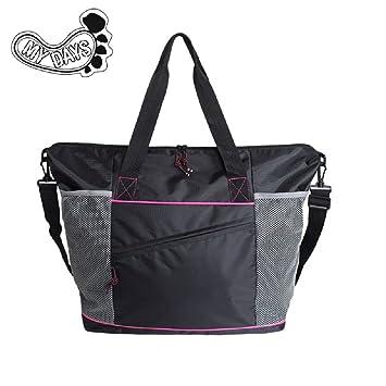 Ladies Sports Bag Womens Gym Bags Holdalls Duffel Black
