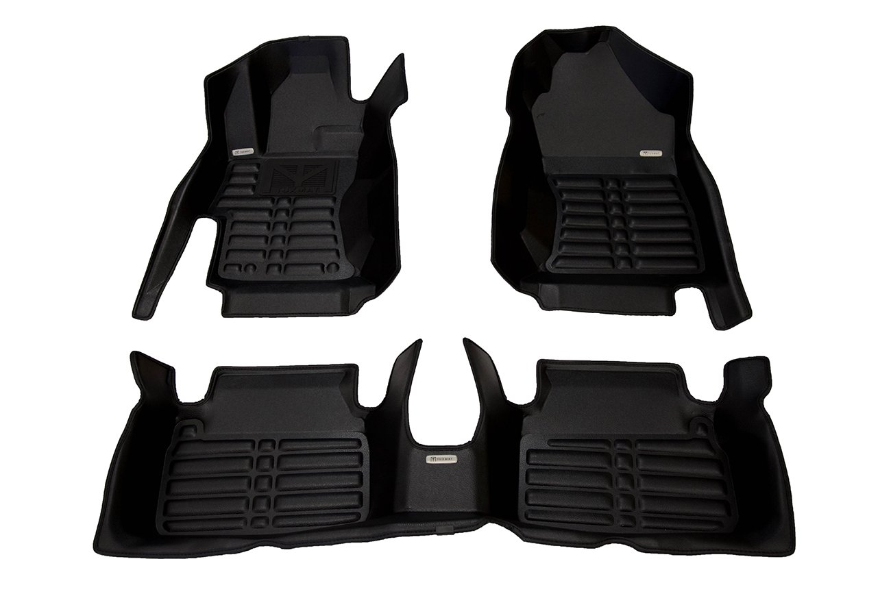 TuxMat Custom Car Floor Mats for Subaru Impreza 2017-2019 Models - Laser Measured, Largest Coverage, Waterproof, All Weather. The Ultimate Winter Mats, Also Look Great in the Summer. The Best Subaru Impreza Accessory. (Full Set - Black)