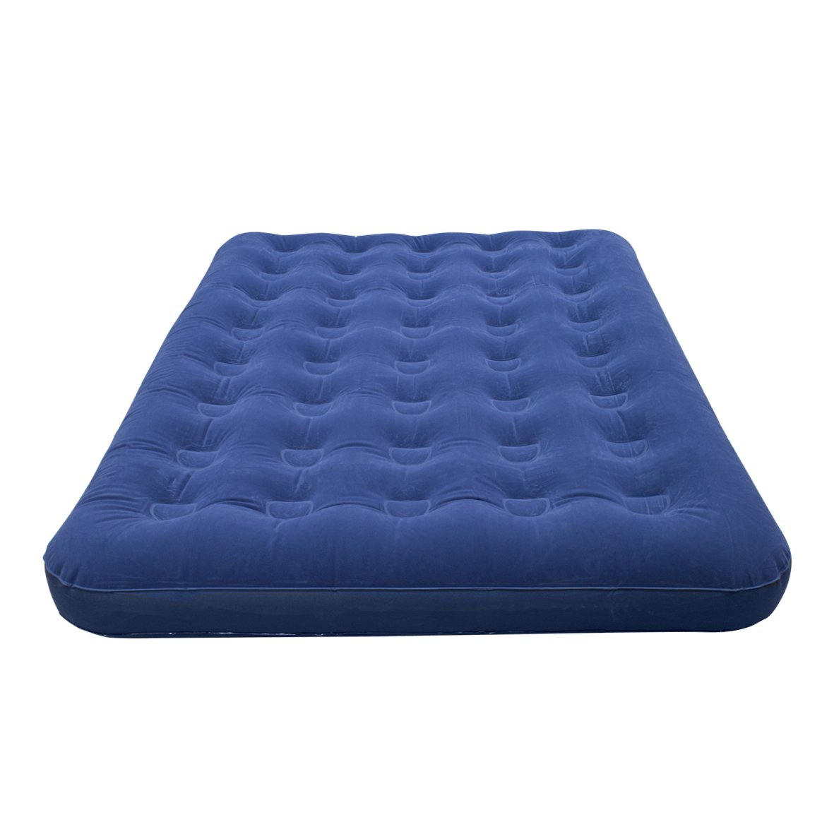 Amazon.com : Milestone Camping Double Flocked Airbed - Blue : Air Bed Mattresses : Sports & Outdoors