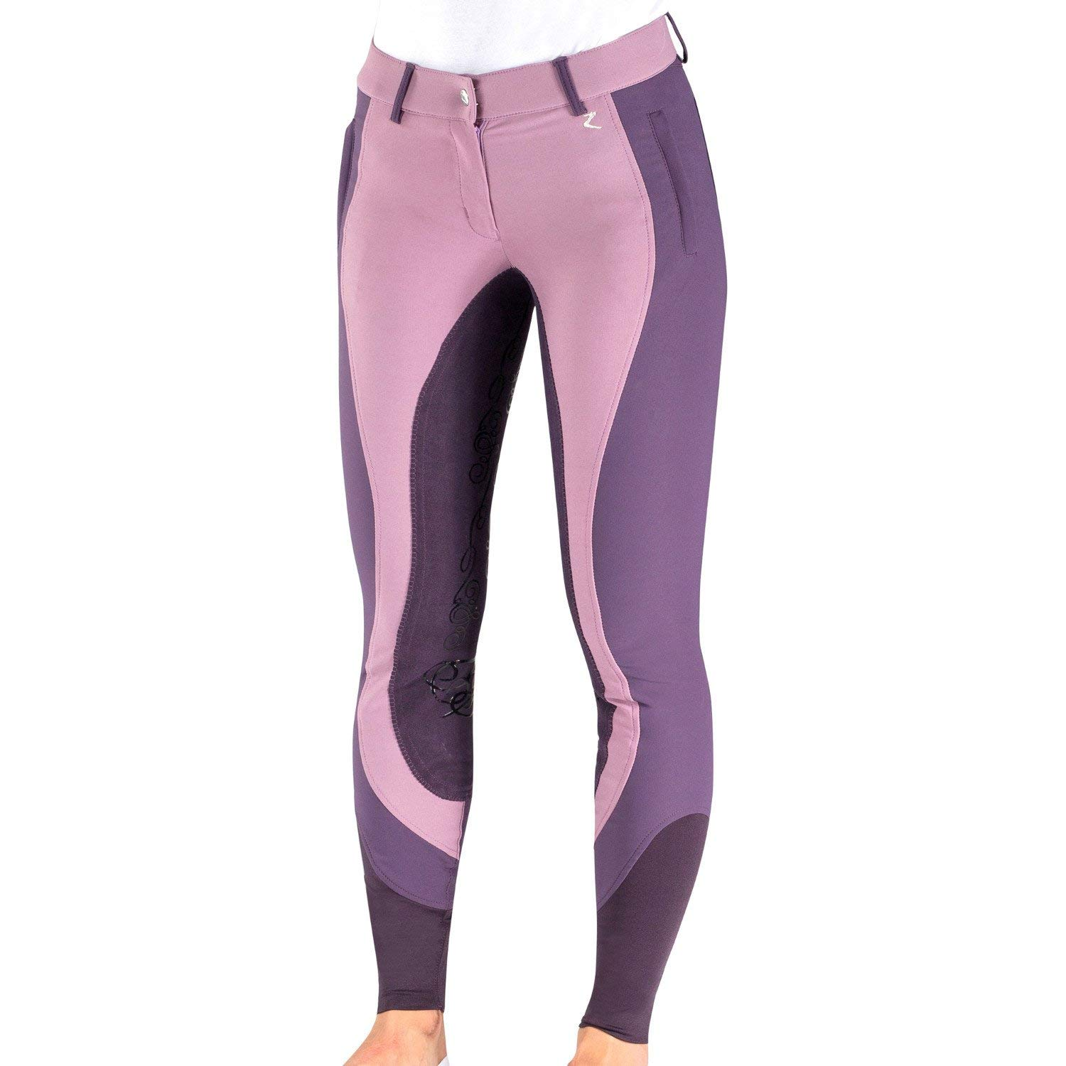 Horze Kiana撥水とDustレディースフルシートRiding Breeches 28 Grapeade/Grape Juice B079YYVHJB