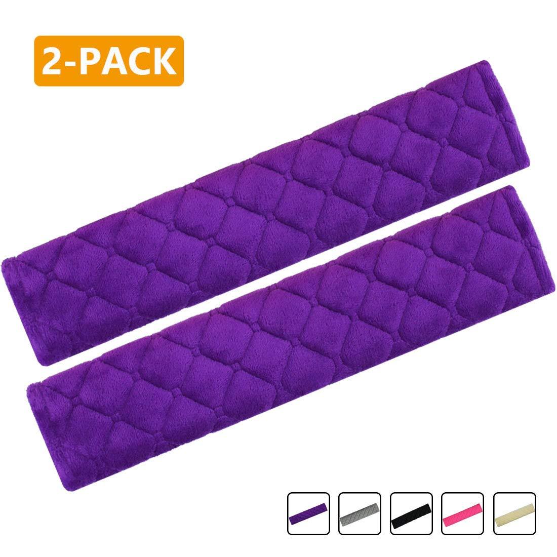 Gray 2-Pack Soft Car Safety Seat Belt Strap Shoulder Pad for Adults and Children Laptop Computer Bag MIRKOO Car Seat Belt Cover Pad Shoulder Bag Suitable for Car Seat Belt Backpack