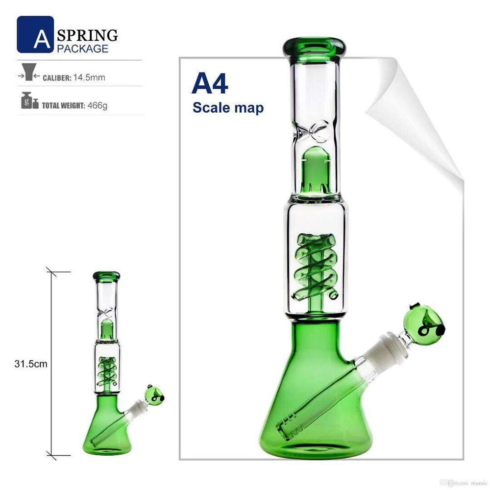 LILINY 12 Length Stright Glass Unique Spiral Filtration