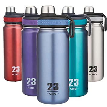Amazon.com: Cille Vavuum Botella de agua de acero inoxidable ...