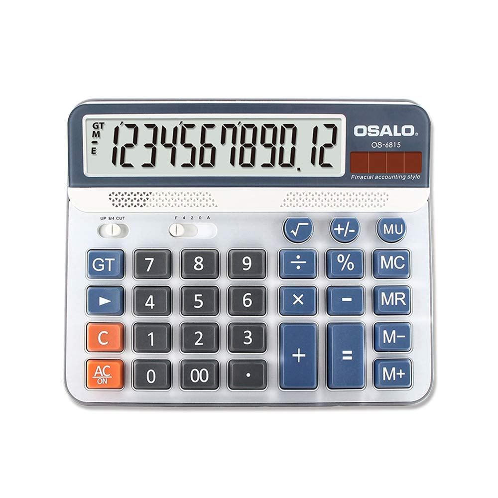 Aibecy Electric Calculator Desktop Counter Solar & Battery Power ABS 12-Digit LCD Display Source for Home Office School -OSALO OS-6815 by Aibecy (Image #8)