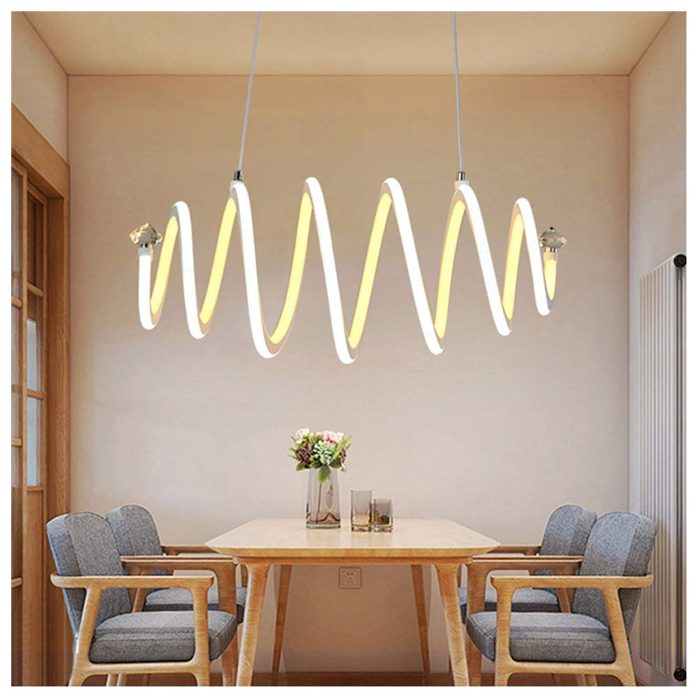 H.Q 銀製の白い単一ランプのシリコーンの天井灯の現代簡単な吊り下げ式ライトは据え付け品を導きました   B07TPT85L7