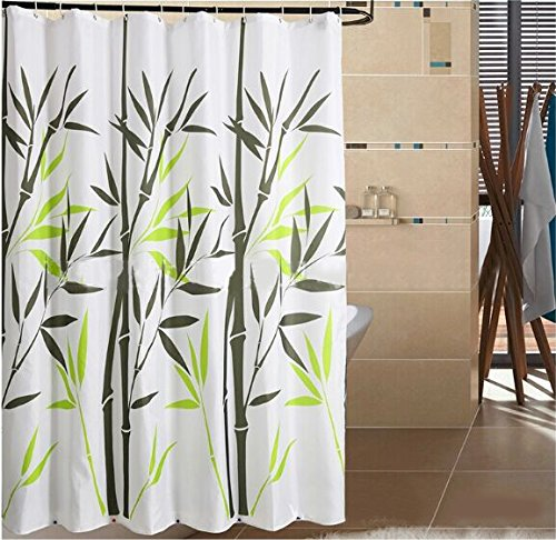 ree Water-Repellent Bamboo Shower Curtain,Bamboo 36-Inch by 72-Inch, ()