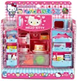 Cute Hello Kitty Refrigerator & Microwave with Various Foods & Other Products