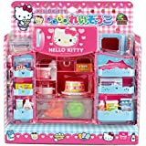 Hello Kitty Cute Refrigerator & Microwave with Various Foods & Other Products