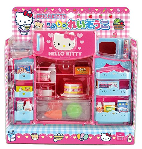 Hello Kitty Toy Food : Cute hello kitty refrigerator microwave with various