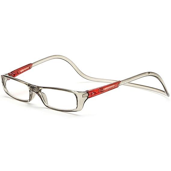 1b41ffa2b2 Vococal - Ajustable Gafas de Lectura de Magnéticas con Diseño de Conexión  Frontal y Colgar el Cuello para Hombre y Mujer que tiene Problema de  Presbicia (+2 ...