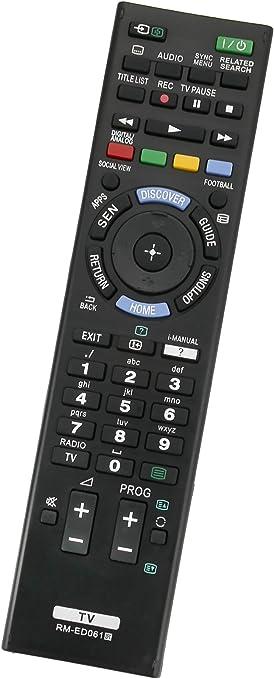 ALLIMITY RM-ED061 RMED061 Reemplace el Control Remoto por Sony Bravia TV KDL-65W955 KDL-50W656A KDL-48W605B KDL-48W585B KDL-32W651A KD-75S9005B KD-65X8505B KD-65S9005B KD-55X9005B: Amazon.es: Electrónica