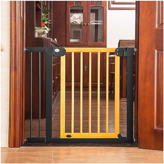 ZEMIN Barrera De Seguridad Escalera Puerta for Niños Perros Fuerza Potente Tubo De Pintura Durable, Auto Cerrado, H 77CM (Color : B, Size : W104-111cm): Amazon.es: Hogar