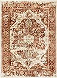 Well Woven Millie Tribal Copper Rust Medallion Area Rug 5×7 (5'3″ x 7'3″) Modern Distressed Oriental Plush Super Soft Carpet