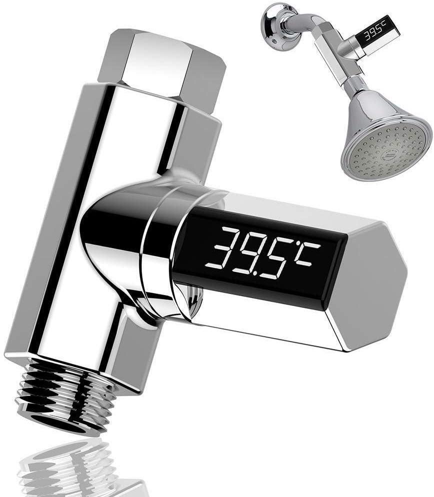 /Écran num/érique LED Thermom/ètre /à eau pour la douche et les accessoires de bain /Étanche Compteur automatique Testeur pratique pour la maison et le bain