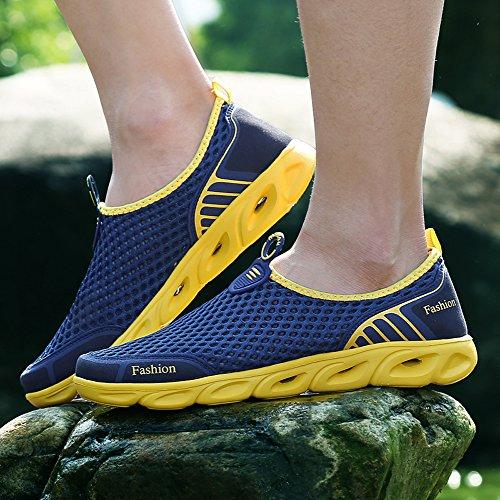 Ceyue Herren Wasser Schuhe Leichte, schnell trocknende Sport Aqua Schuhe Navy blau