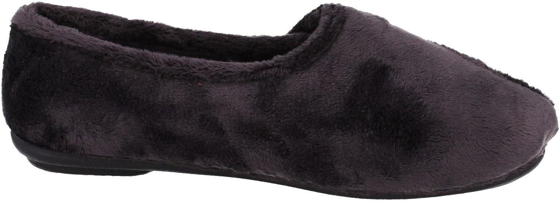 Ladies Clarks K/'s Hook /& Loop Casual Home Comfort Textile Slippers Wave Stir