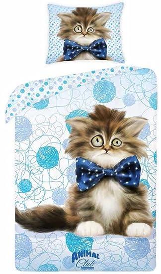 Katzen Bettwäsche Crazy Cat Kinderbettwäsche 140x200 Cm Amazonde