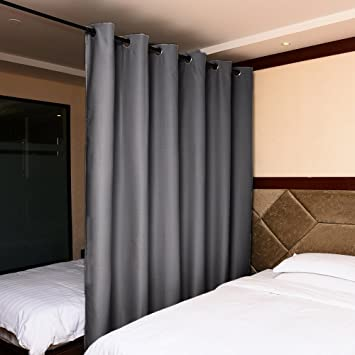 Amazon.com: Room Divider Curtain Screen Partitions - Nicetown Full ...