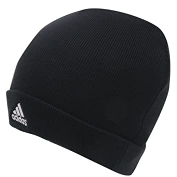 Adidas Knit Beanie Hat Mens Black  Amazon.co.uk  Sports   Outdoors 1aba7b9d938