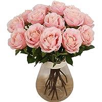 Bringsine Premium Artificial Flowers, Real Touch Pu Flowers Silk Artificial Rose Flowers Home Decorations for Bridal…
