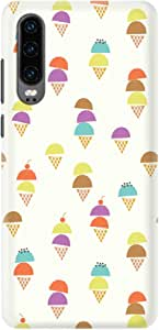 Stylizedd Huawei P30, Slim Snap Basic Case Cover Matte Finish - Scoopy Cones