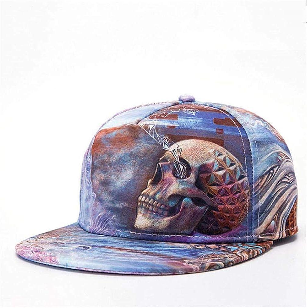 GTSDYFV Cool 3D Skull Baseball Caps Unisex Hip Hop Plat Hats Casual Mens Cap Snapback Skateboard Cap Womens Hats
