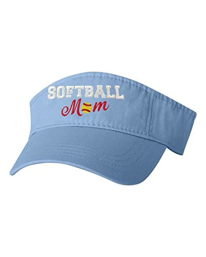 Go All Out Adjustable Baby Blue Adult Softball Mom Embroidered Visor Dad Hat c72c524d625