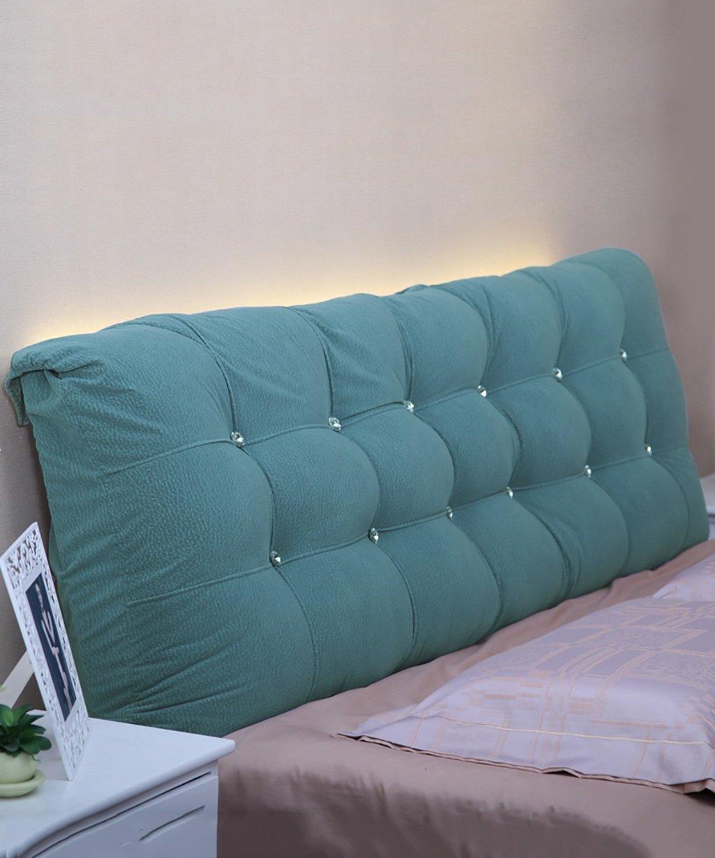 IAIZI 綿マットレス枕ベッドの背もたれの枕ソフトバッグ大取り外し可能なダブル枕クッション/フル/大/特大 (色 : 青, サイズ さいず : 190*15*58cm) B07RV1MK11 青 190*15*58cm