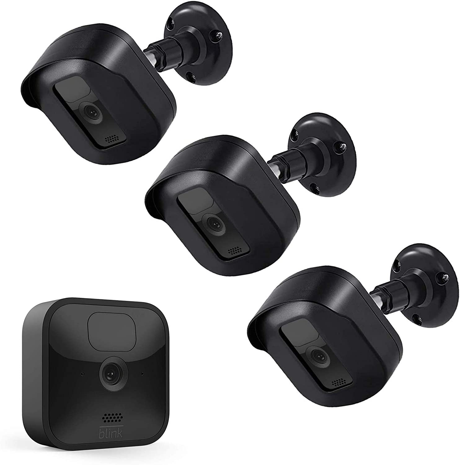 Blink Outdoor Camera Mount 360 Degree Adjustable Mount with Blink Sync Module 2 Outlet Mount for All-New Blink Outdoor Indoor Security Camera System Black, 5 Pack
