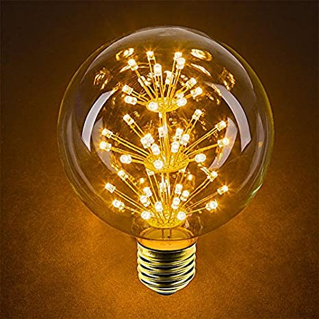 LED Fireworks Bulb - G30 Decorative Fireworks LED Bulb - 15 Watt Equivalent - Dimmable - 125 Lumens - Warm White - - Amazon.com