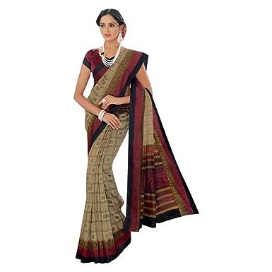 Sari diseñador indio saree saree original sari impreso algodón 100 ...