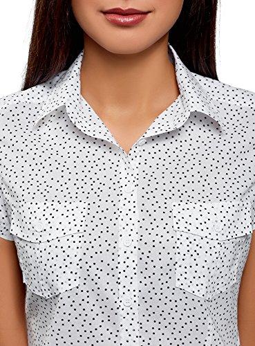 Ultra Chemise Femme Imprim Coton Blanc oodji avec 1029d en 1fw4fqx