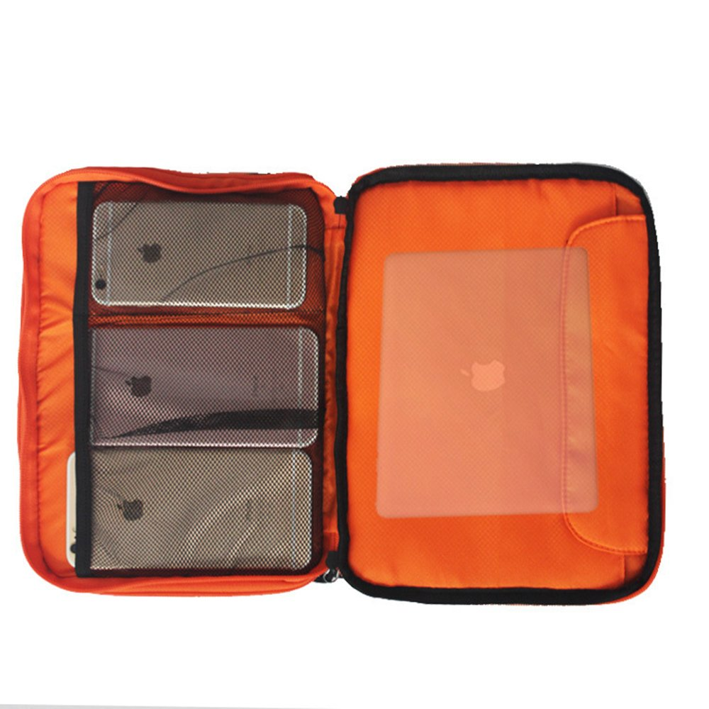 waterproof Ipad organizer USB data cable earphone wire pen power bank travel storage bag kit case digital gadget devices