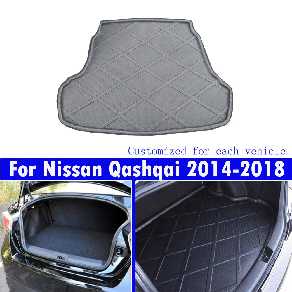 Le nouveau noir mat tapis de coffre de voiture de queue de tapis de coffre Pour For Qashqai 2014 2015 2016 2017 2018 2019 guanchao