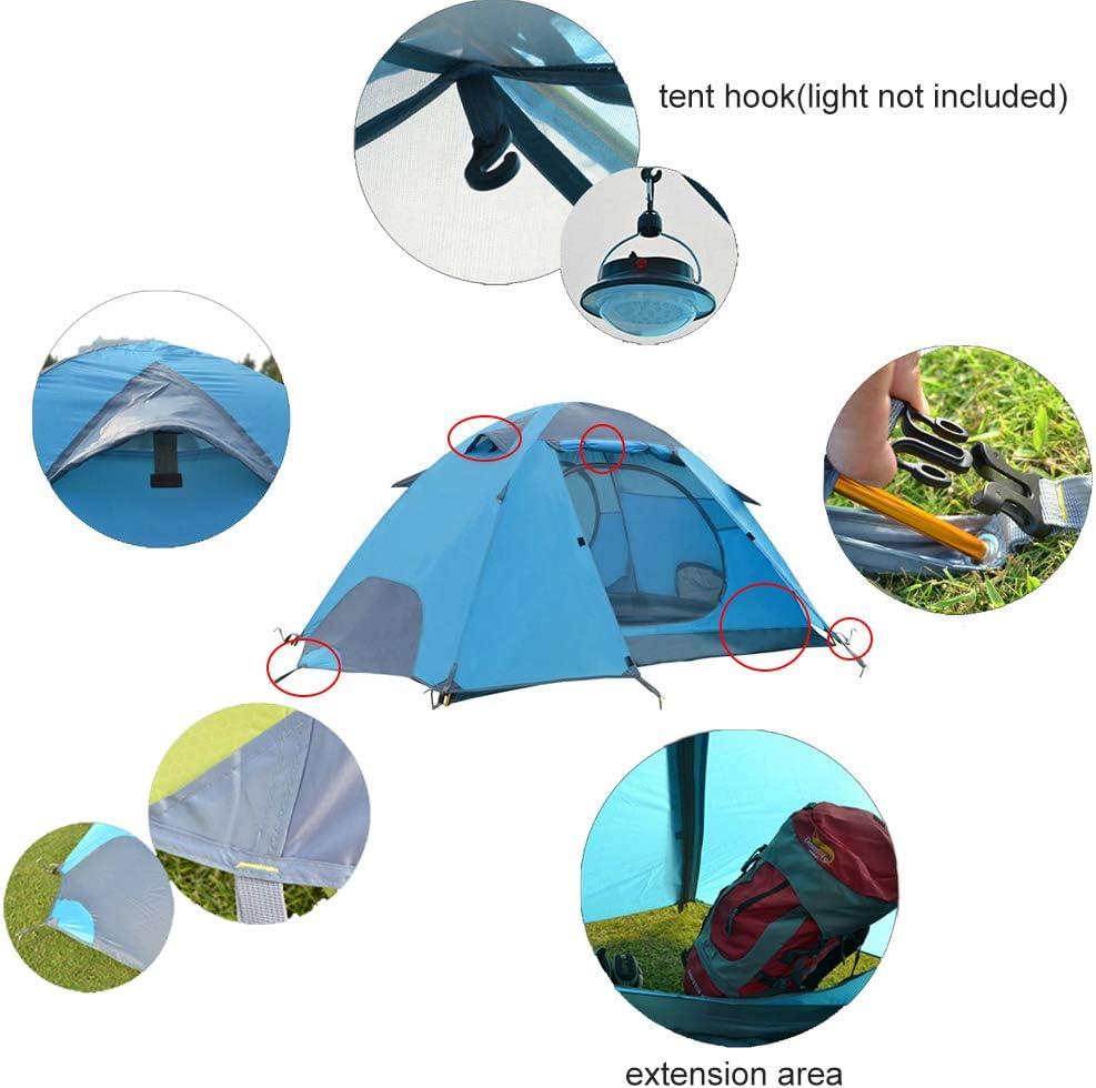 Tente Dôme 2 Places Tente Ultra Légère Tente Bivouac Tente Festival pour Randonnée Trekking en Plein Air Blue